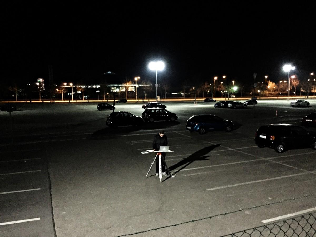 Digitales Aufmaß bei Nacht