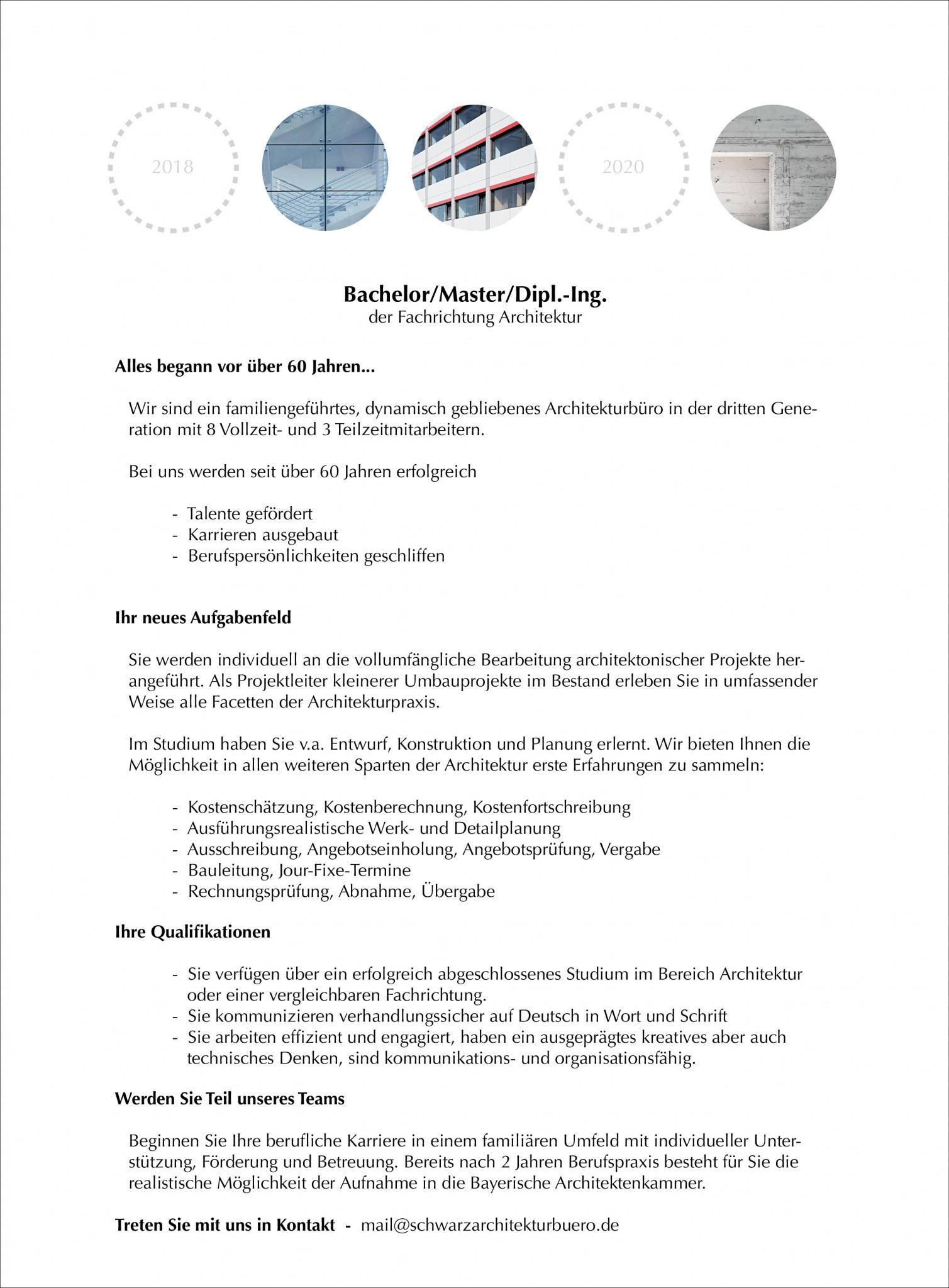 Stellenangebote Schwarz Architekturburo Nurnberg